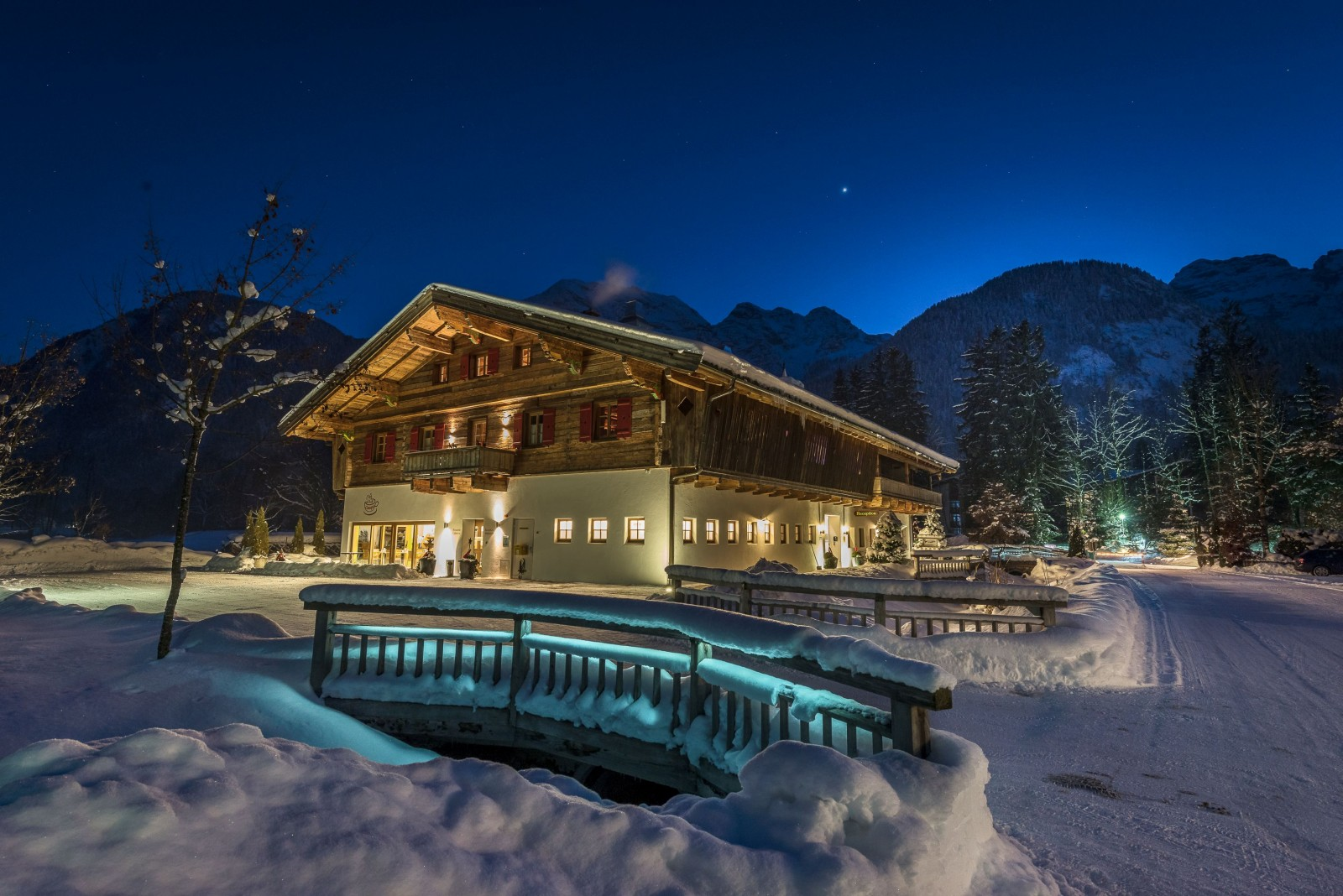 Das Grubhof-Haupthaus im Winter