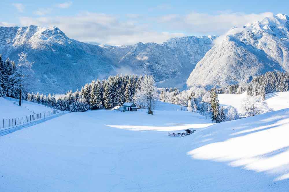 Bachrain im Winter