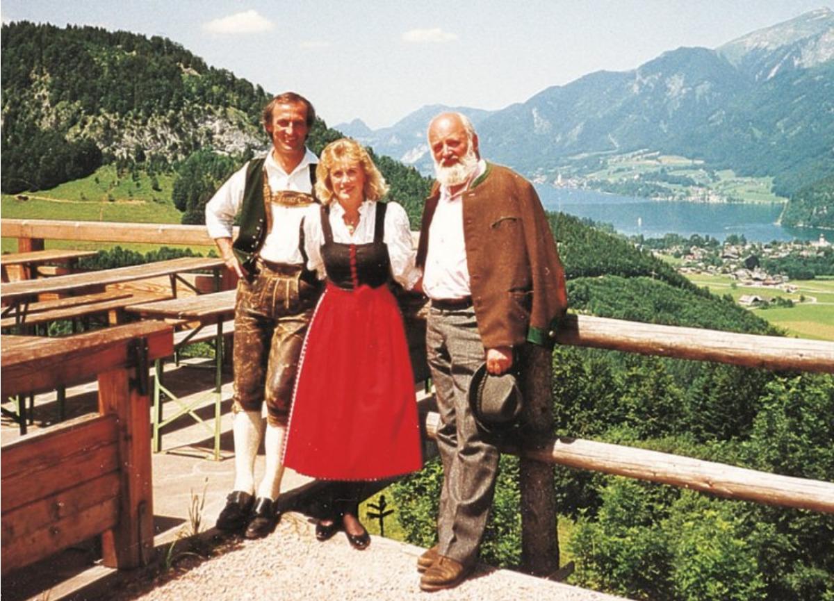 Auch Sepp Forcher besuchte die Laimeralm