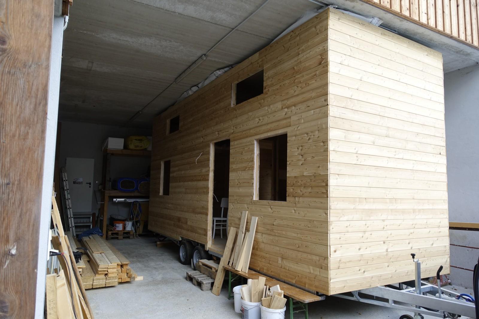 Ein neues Tinyhaus ist gerade im Werden