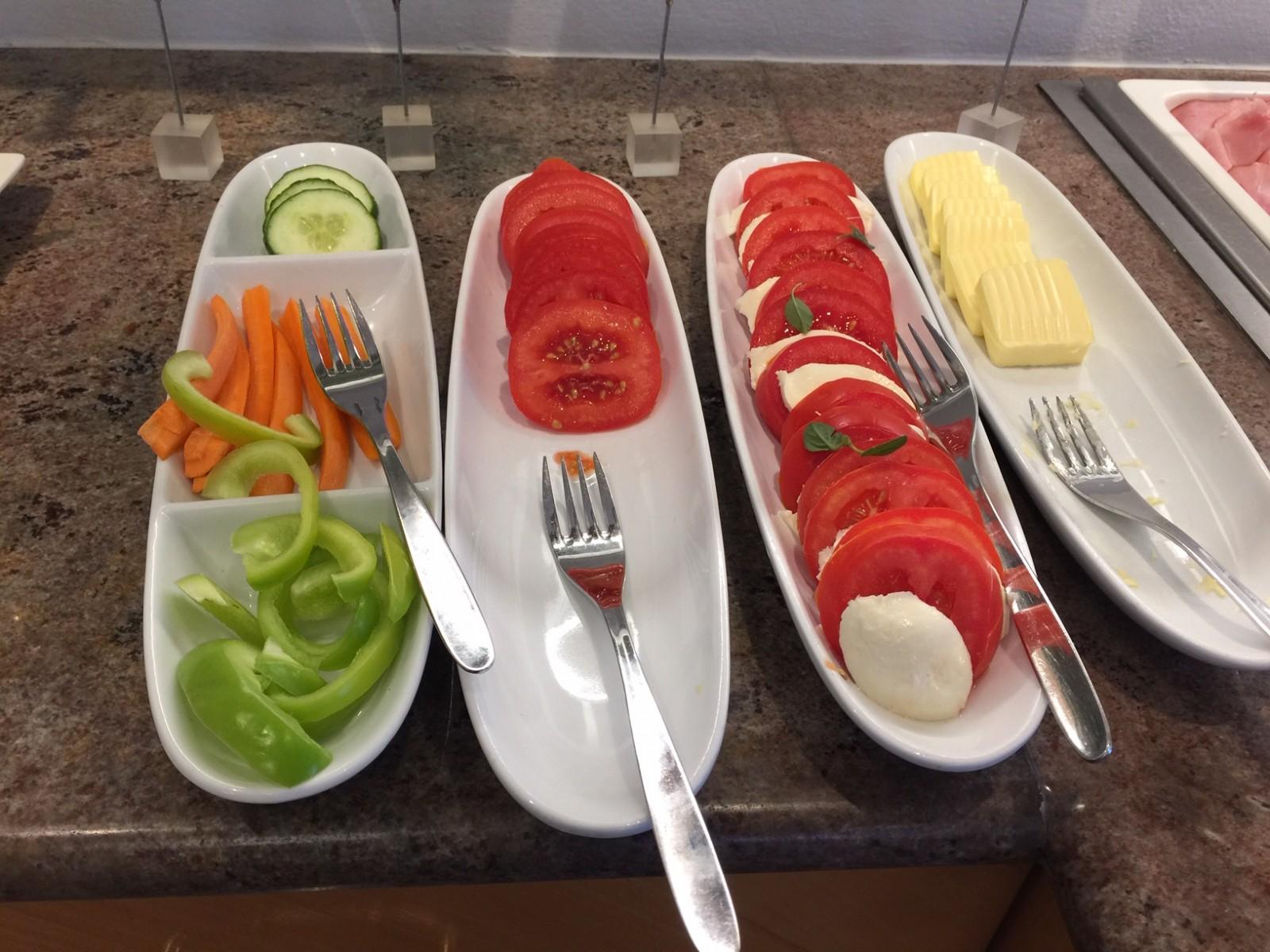 wie Tomaten, Karotten, Butter.