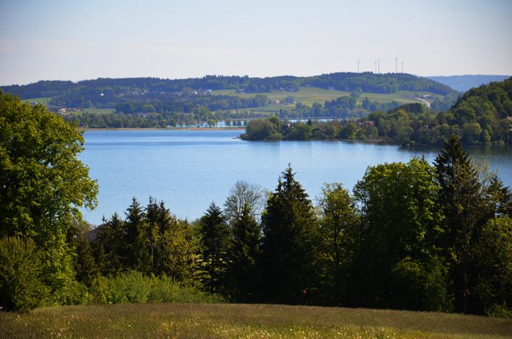 Ausblick auf das Trumer Seenland