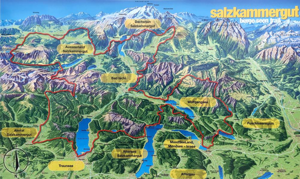 Salzkammergut Karte.Wandertipp Berge Seen Trail Salzburgerland Magazin