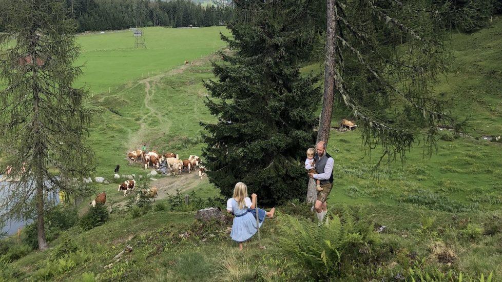 Familie wandert, Dientalm, Mühlbach am Hochkönig