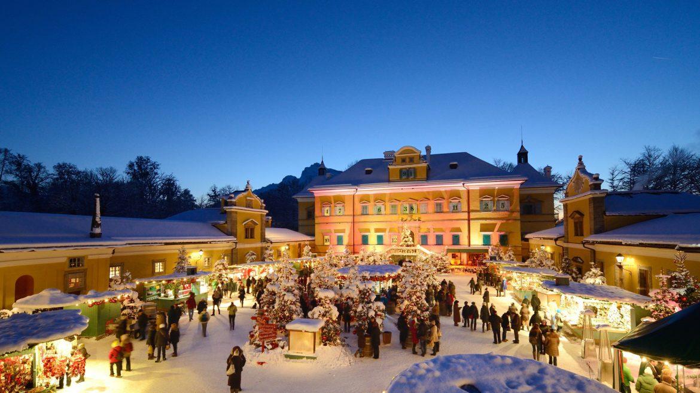 Der Christkindlmarkt in Hellbrunn.