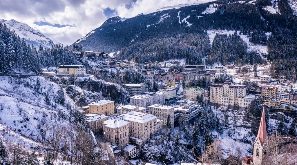 Winterpanorma von Bad Gastein