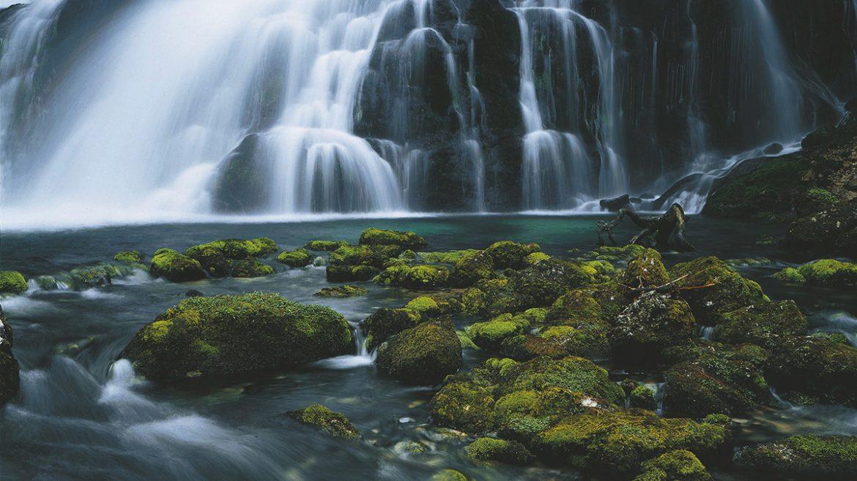 Der Gollinger Wasserfall im Sommer