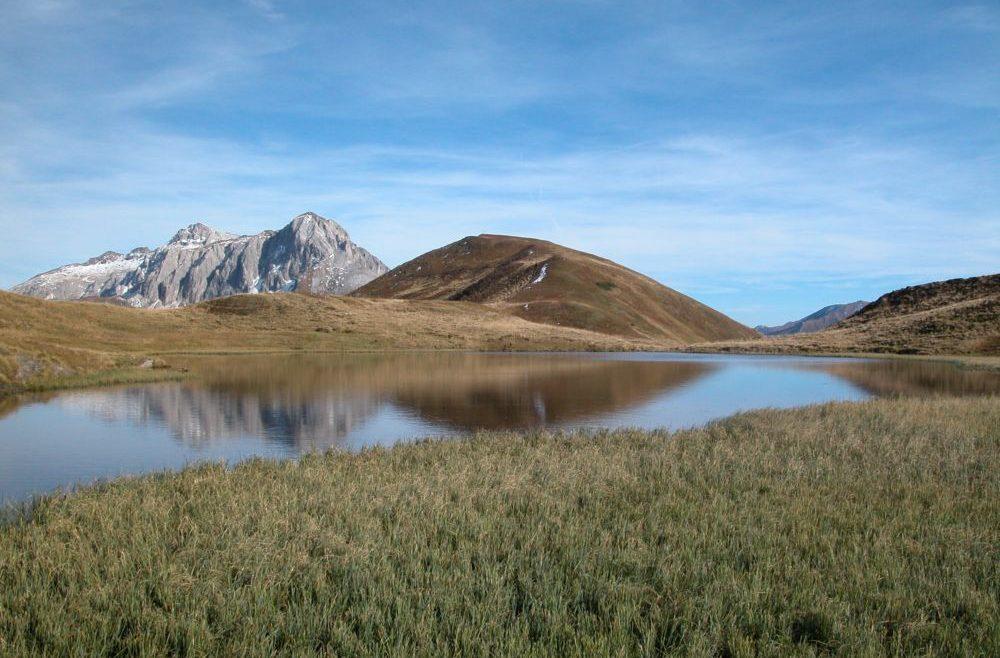 Bergsee im Riedingtal im Lungau im Herbst
