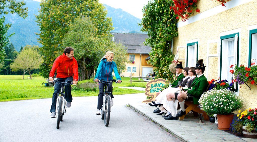 Radfahren im Bauernherbst