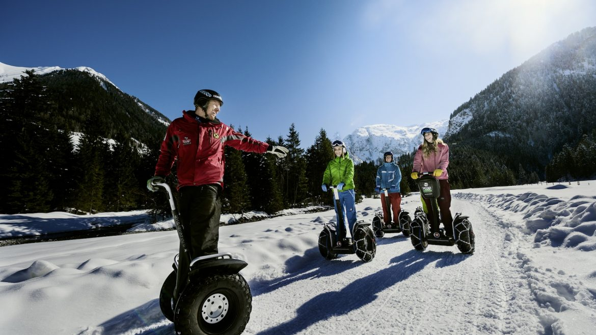 Segway in Flachau im Winter