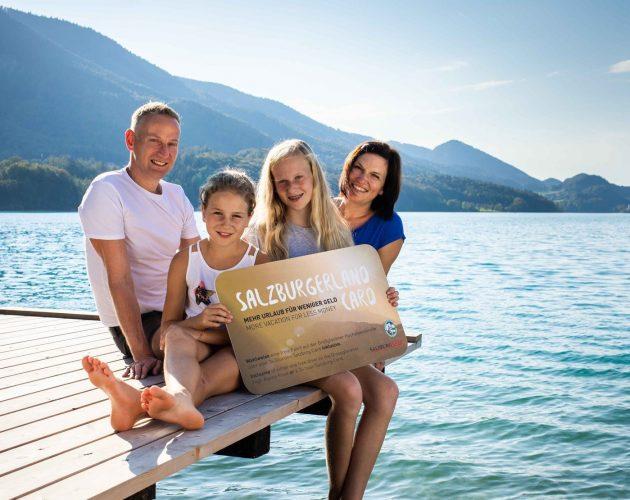 Familie mit SalzburgerLand Card