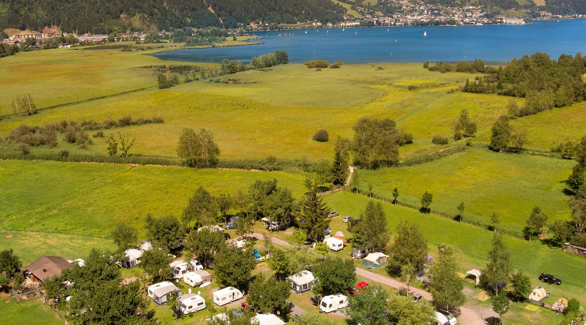 Luftaufnahme Campingplatz Nahe des Zellersees