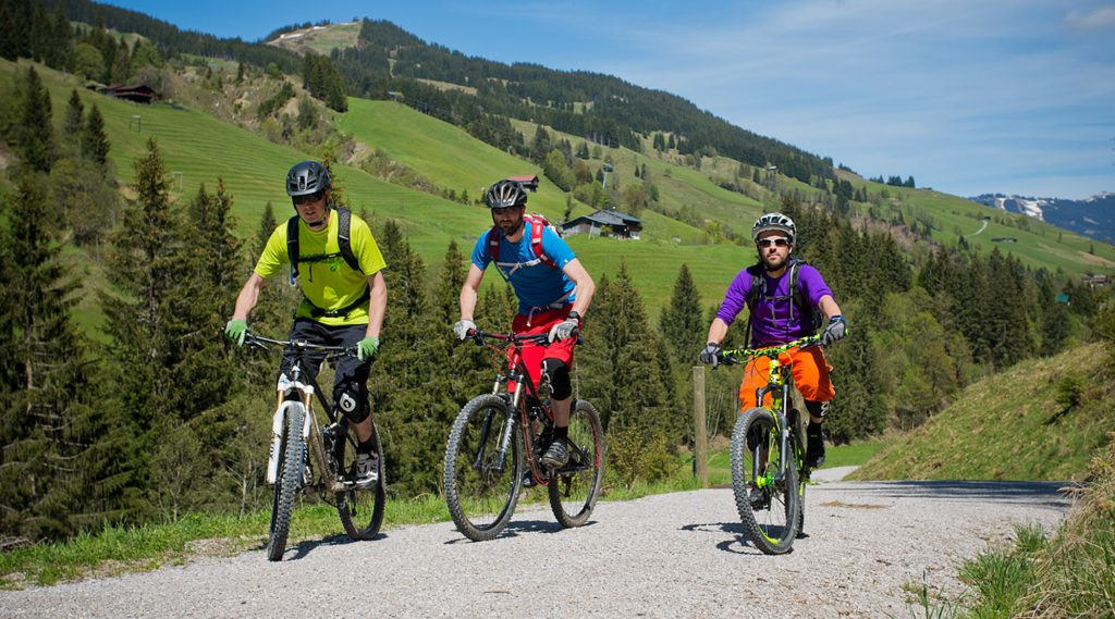 Mountainbiken in Viehhofen.