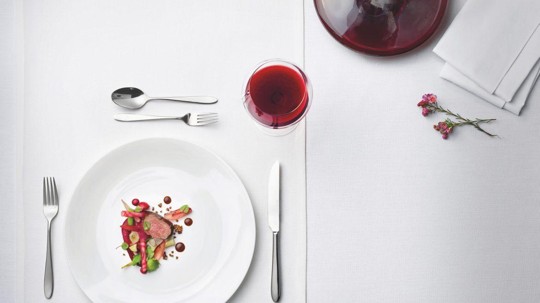 Wein, Gedeck, Hauptspeise