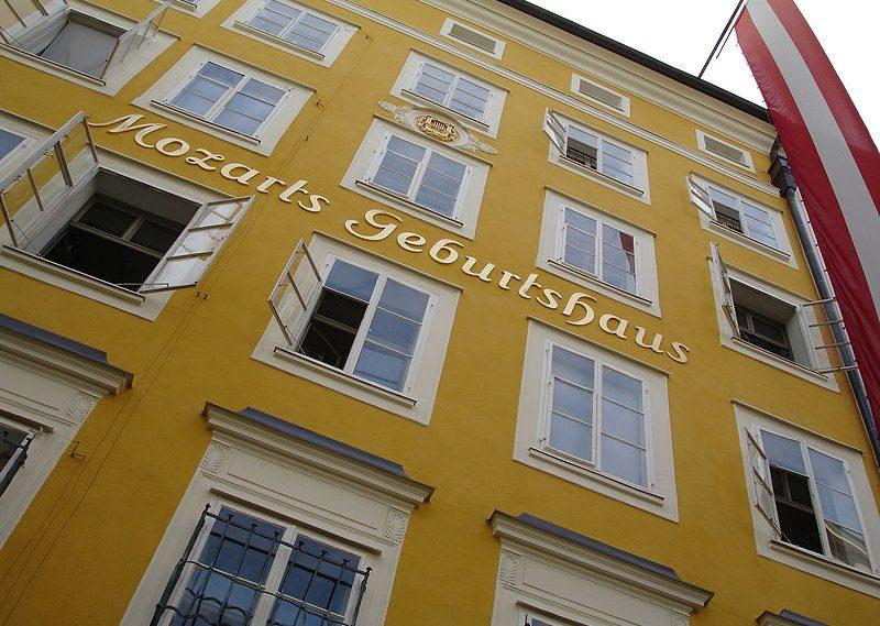 Mozarts Geburtshaus in der Getreidegasse 9