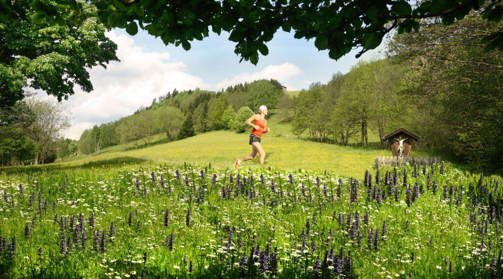 Trailrunning in sommerlicher Kulisse.