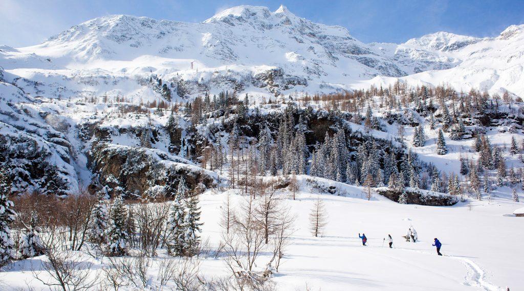 Schneeschuhwandern in Kolm Saigurn in Rauris.