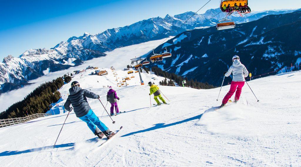 Skifahren im Skicircus Saalbach Hinterglemm Leogang Fieberbrunn.