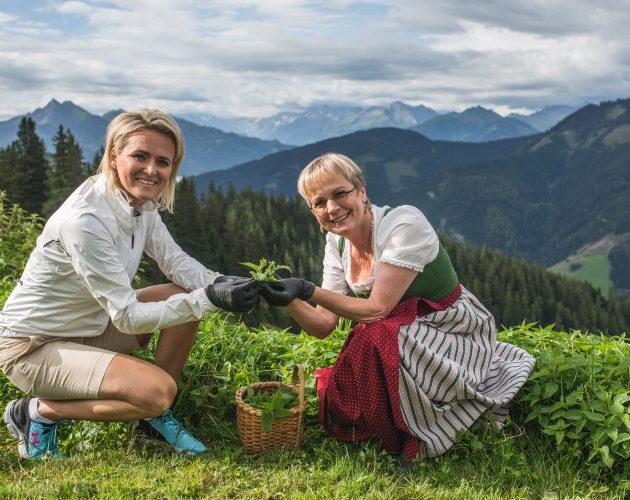 Alexandra Meissnitzer auf der Bürgl Alm