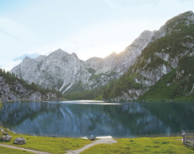 Bergsee, Almsommer, Landschaft, Natur, Wiese, Entspannen, Bergsee, Wasser, Wanderweg