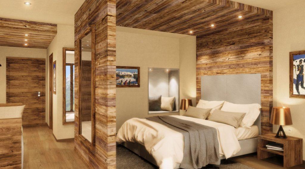 Hotelsuite mit Doppelbett in einer Koje