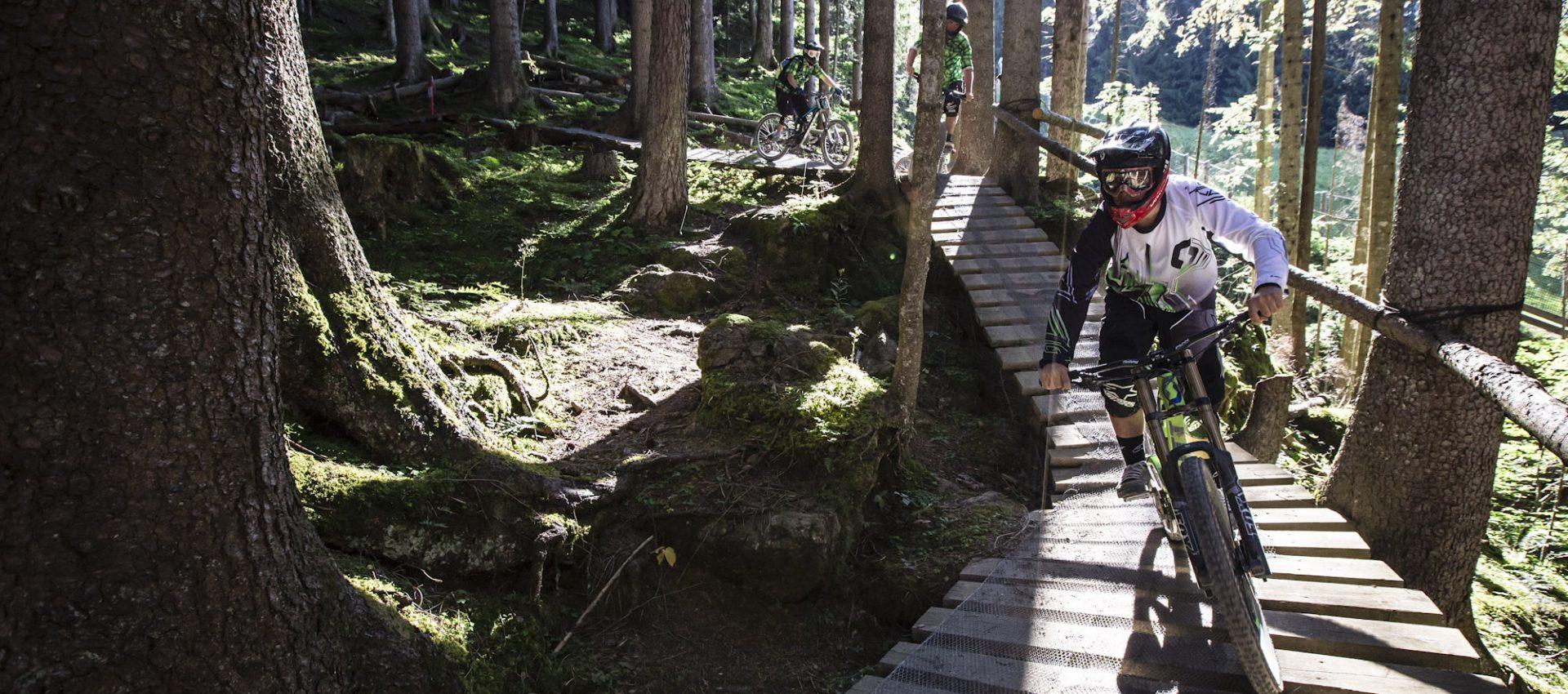 Mountainbike in voller Fahrt