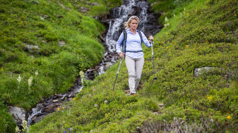 Alexandra Meissnitzer beim Abstieg