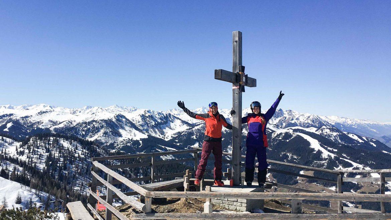 Klara Fuchs und Berghasen in Flachau