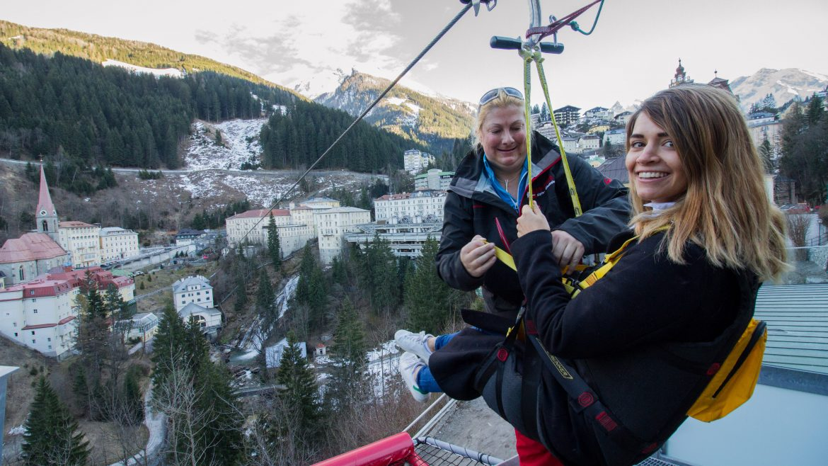 Nina Radman am Flying Waters Bad Gastein