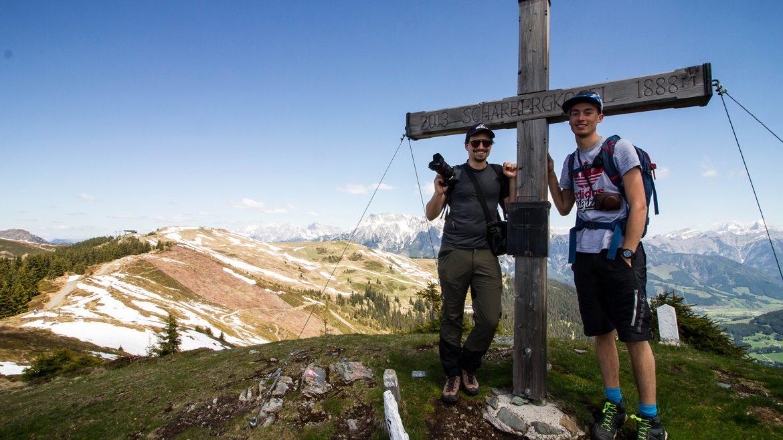 Thorsten und Marius am Saalachtaler Höhenweg