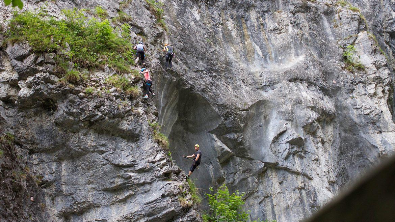 Klettersteig in der Kitzlochklamm