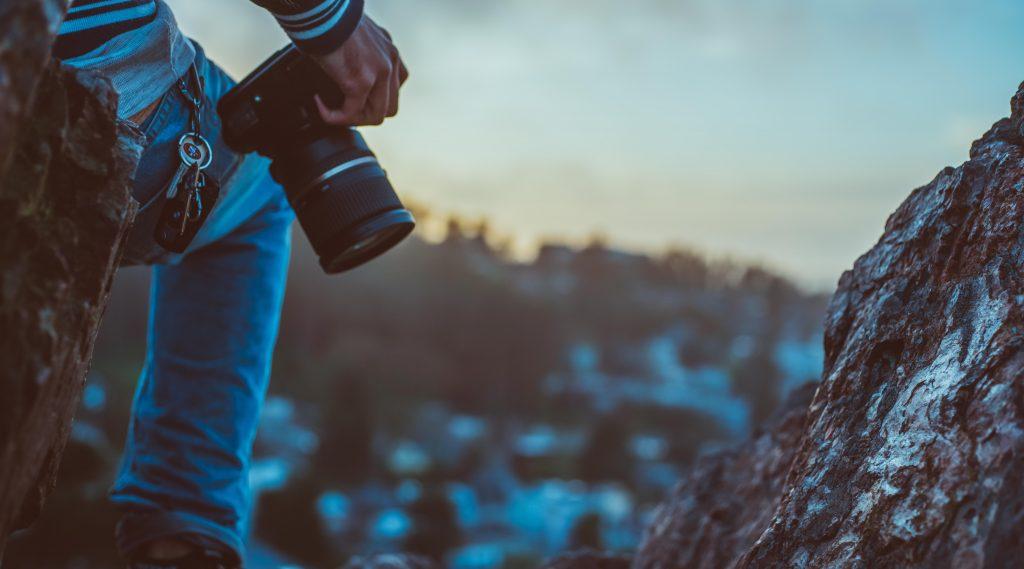 Fotograf beim Outdoor-Shooting