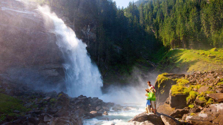 Panoramaansicht der Krimmler Wasserfälle