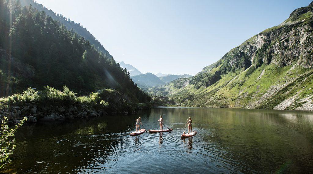 Stand Up Paddling am Grünsee