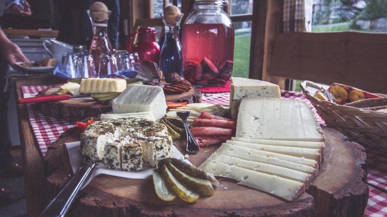 Eine Käsejause beim Dreiländerwirt