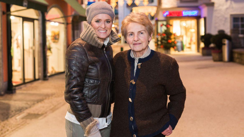 Alexandra Meissnitzer mit Resi Schafflinger