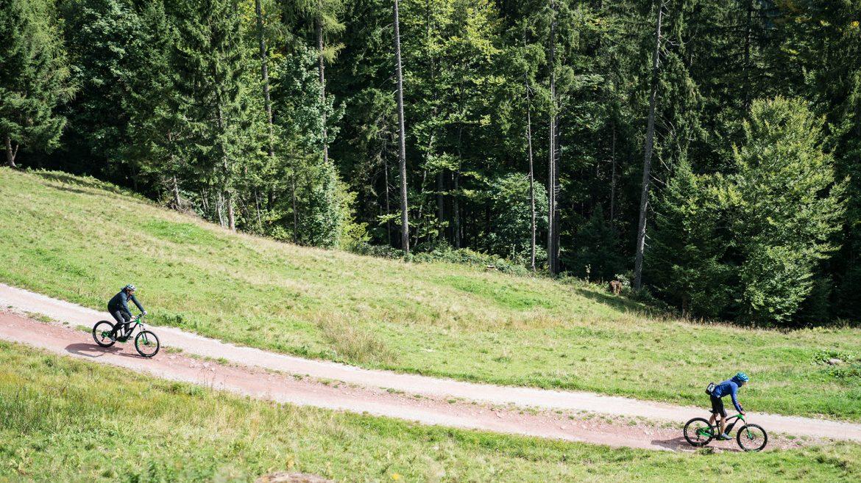 E-Mountainbiken aus der Vogelperspektive