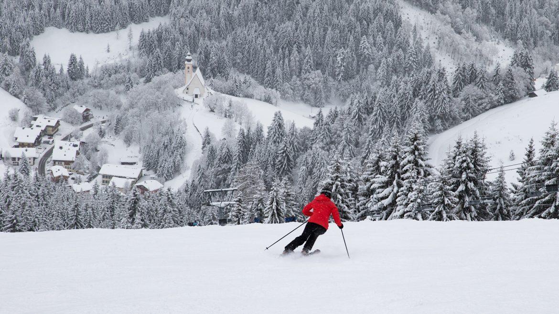 Siggi beim Skifahren in der Region Hochkönig