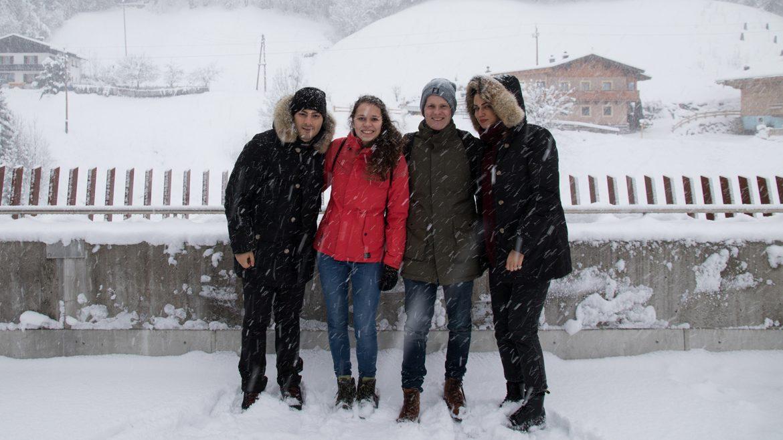 Guido, Siggi, Julian und Alessia in der Region Hochkönig