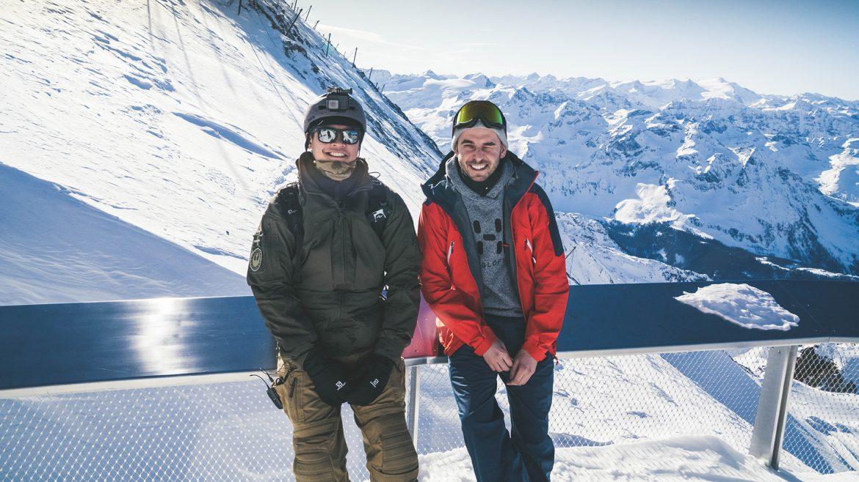 Kenneth und Jesper am Kitzsteinhorn
