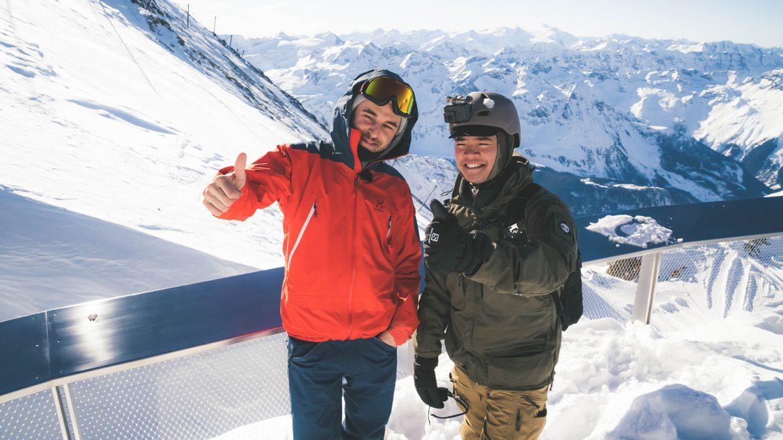 Jesper und Kenneth am Kitzsteinhorn