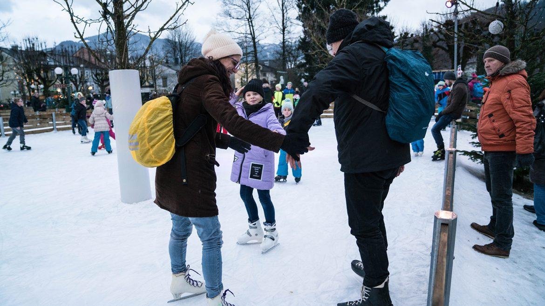 Eislaufen am Kaisereis in Bad Ischl