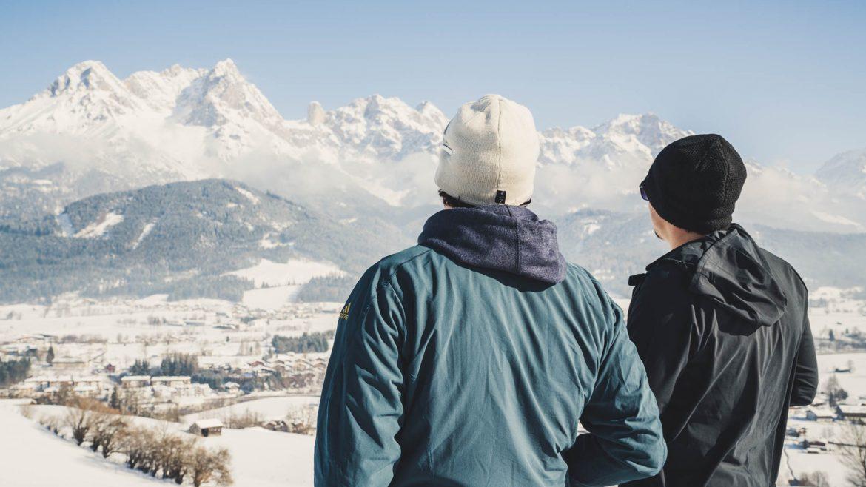 Konstantin und Thorsten auf der Aussichtswarte Ritzensee