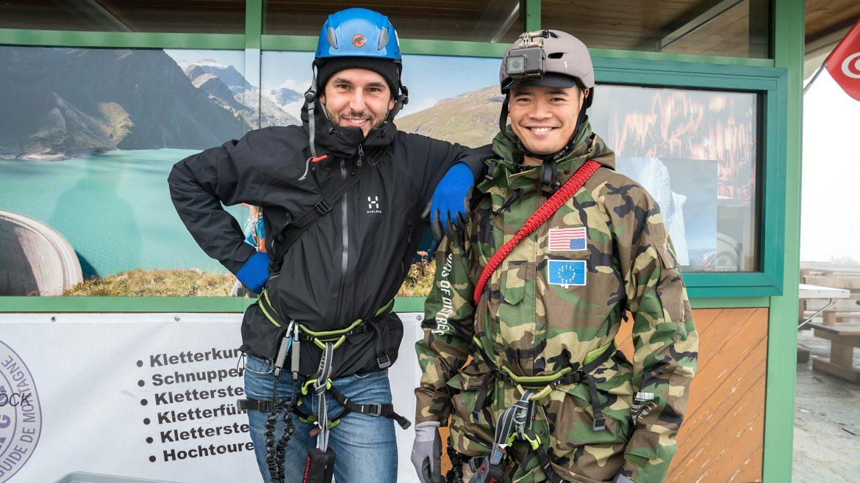 Jesper und Kenneth sind bereits fürs Klettern