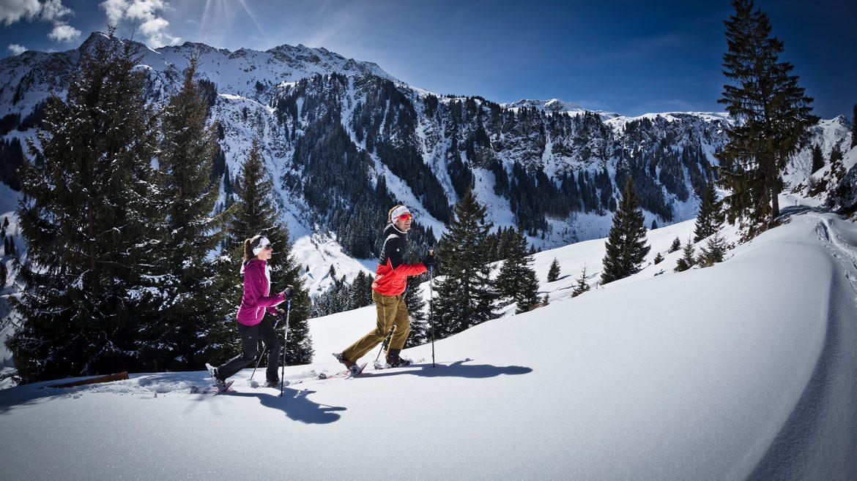 Schneeschuhwandern im Skicircus