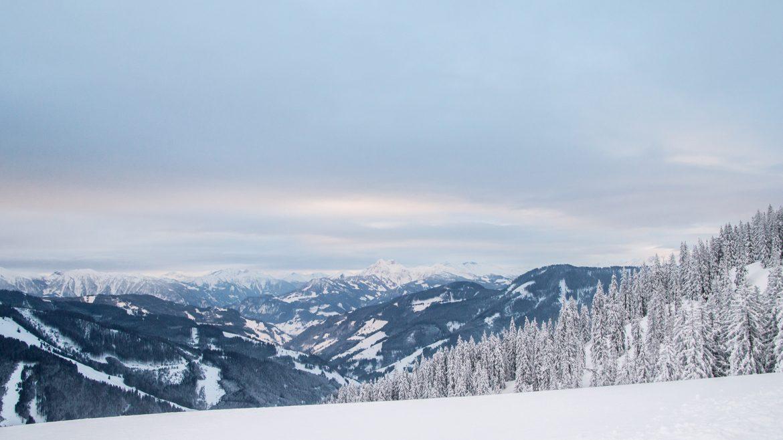 Blick von der Steinbockalm ins Tal