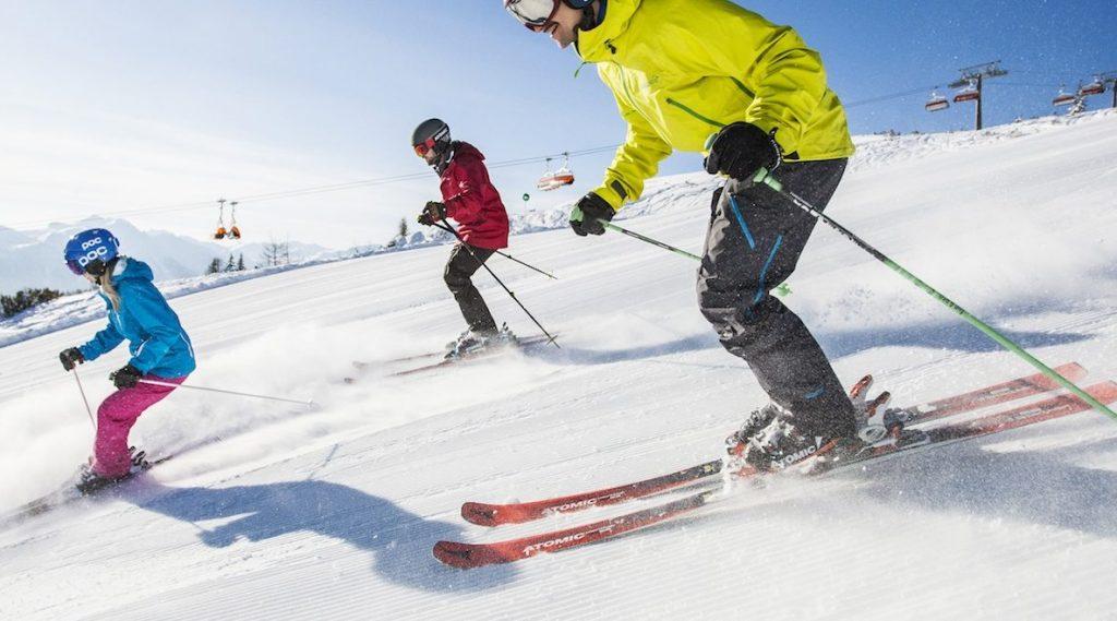 skiing in Flachau