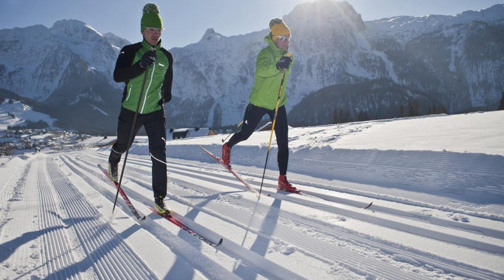 Cross country skiing in Abtenau