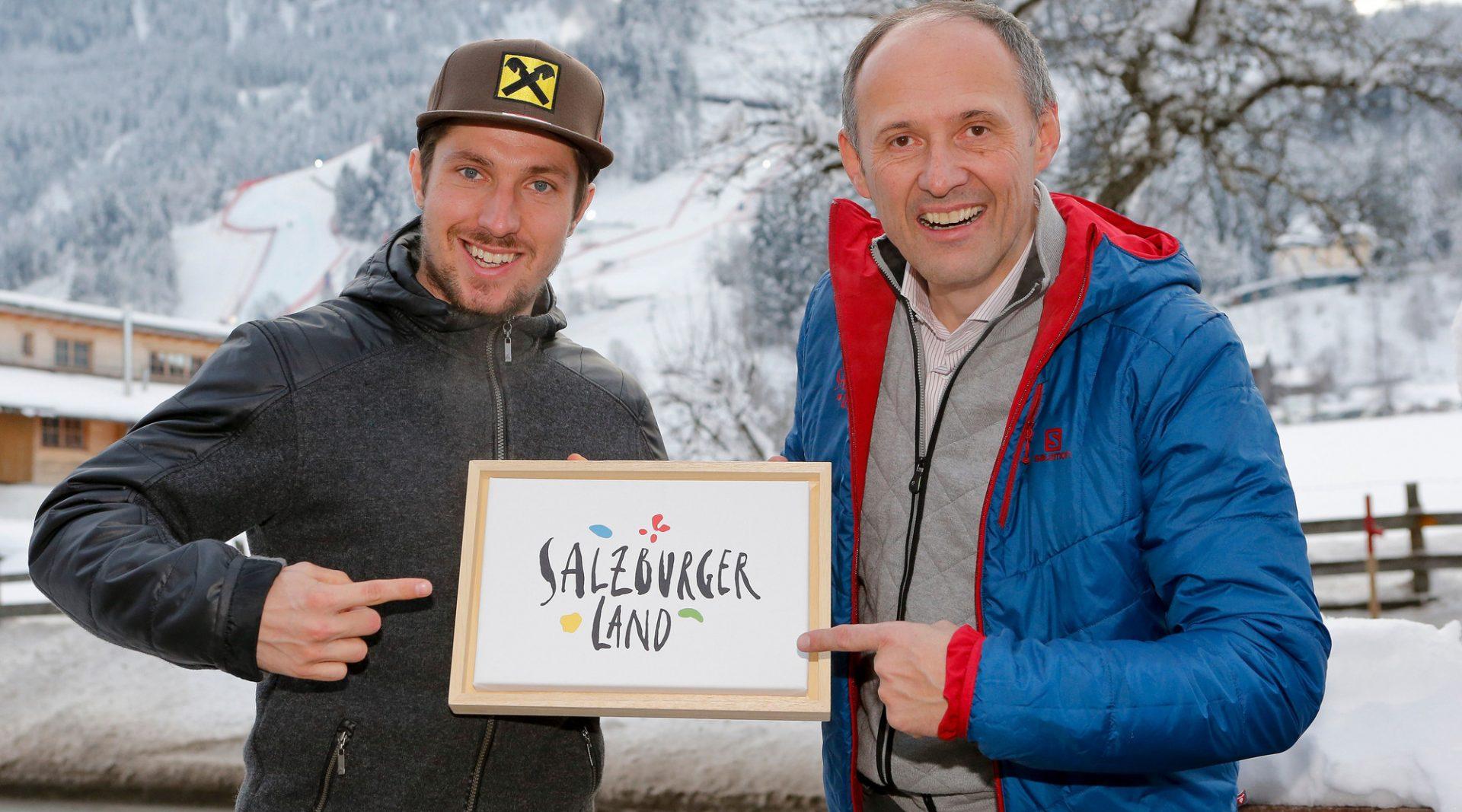 Skistar Marcel Hirscher with Leo Bauernberger, GM SalzburgerLand Tourismus