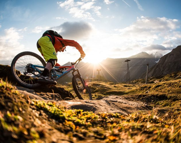 mountain biker down-hill